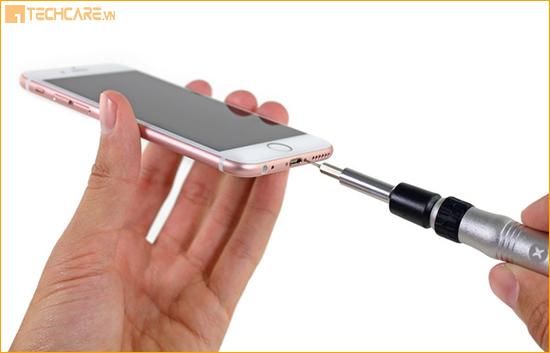 Các bước thay vỏ Iphone 6, 6s tai Techcare Đà Nẵng