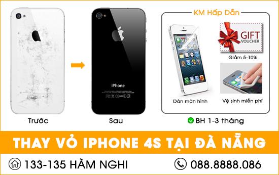 Thay vỏ iphone 4s tại Đà nẵng