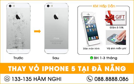 Thay vỏ Iphone 5 tại Đà Nẵng