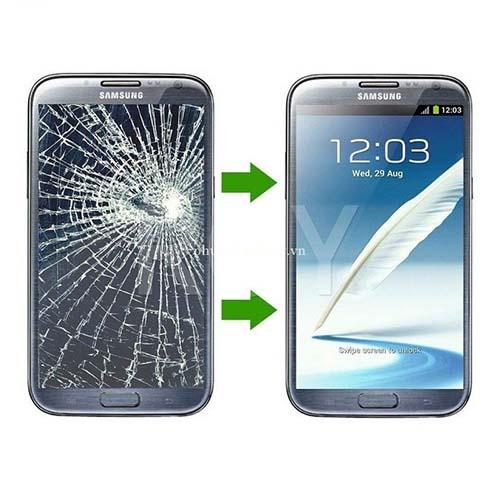 Mặt kính Samsung S4 trước và sau khi thay thế