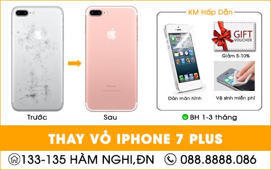 Thay vỏ Iphone 7 Plus tại Đà Nẵng