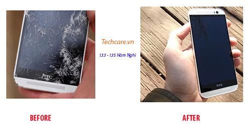 Techcare nhận thay mặt kính HTC One M8 chính hãng tại Đà Nẵng