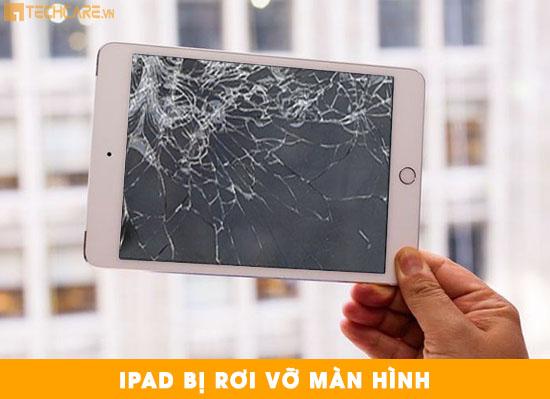 Ipad bị rơi vỡ màn hình làm mất hiển thị