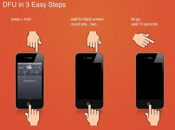 cách đưa iphone về chế độ DFU