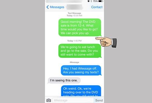 hướng dẫn nhắn tin không tốn tiền trên iphone