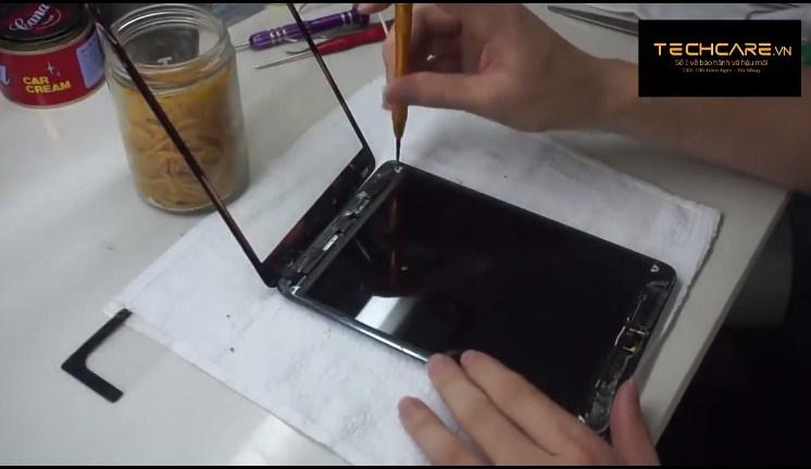quy trình thay màn hình ipad