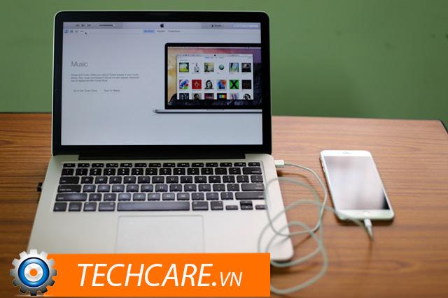 Kết nối iPhone với máy tính bằng cáp USB