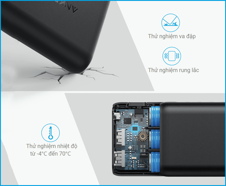 pin sạc dự phòng Anker Powercore Speed 20000 Quick Charge 3.0
