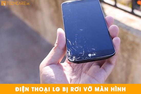 Thay màn hình điện thoại LG bị rơi vỡ