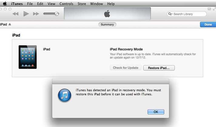 ipad bị lỗi vô hiệu hóa