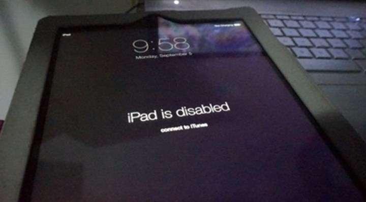 Cách mở ipad bị vô hiệu hoá