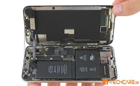 Mẫu pin iPhone X tại Techcare Đà Nẵng