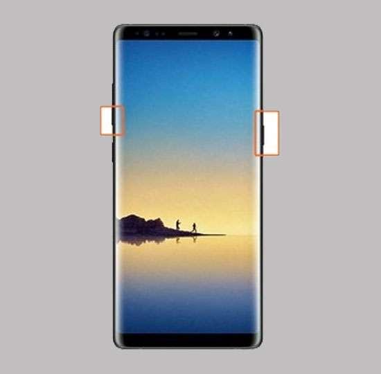 Cách chụp màn hình Galaxy Note 8