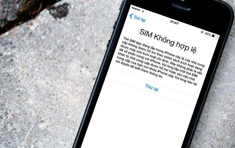 Cách Fix lỗi Sim Ghép 4G Thần Thánh trên iPhone Lock