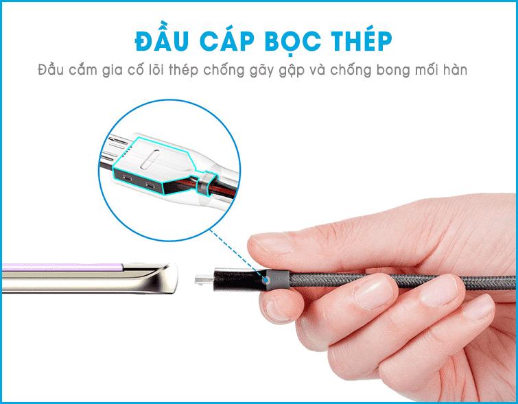 dây cáp sạc anker Micro USB PowerLine+ 1,8m