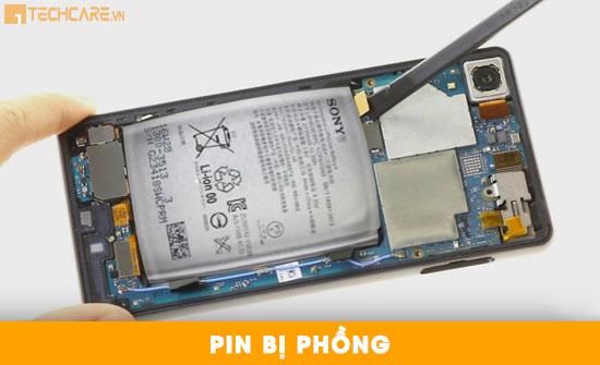 Thay pin Sony Xperia X bị phồng
