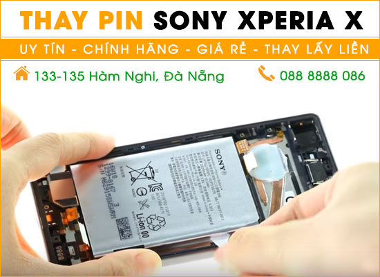 Thay pin Sony Xperia X Đà Nẵng