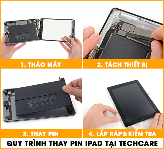 Các bước thay pin Ipad