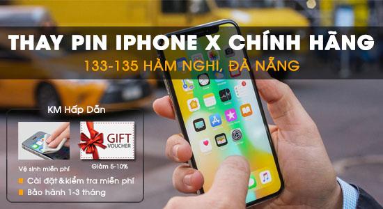 Thay pin Iphone X tại Techcare Đà Nẵng