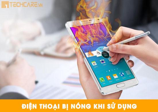 Điện thoại bị nóng khi sử dụng