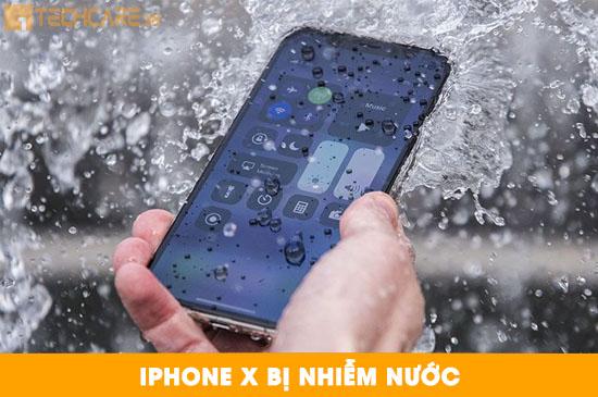 Điện thoại Iphone X bị nhiễm nước