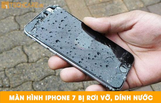 Thay màn hình Iphone 7 bị rơi vỡ dính nước