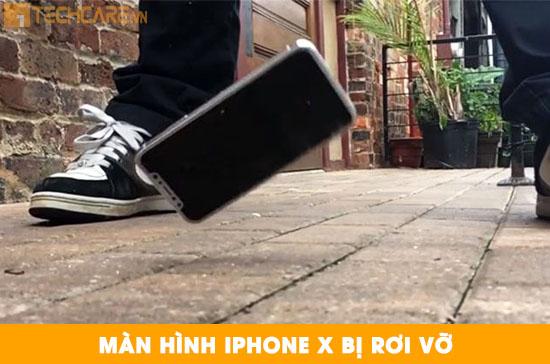 Màn hình Iphone X bị rơi vỡ