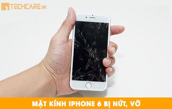 Thay mặt kính Iphone 6 bị nứt vỡ