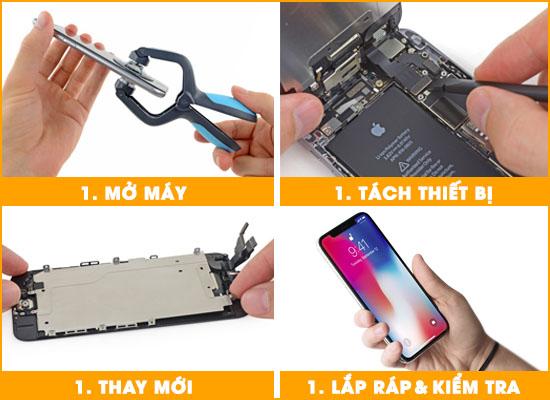 Quy trình thay mặt kính Iphone X tại Techcare Đà Nẵng