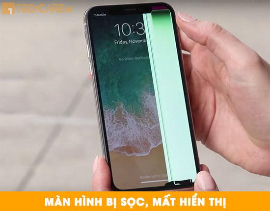 Thay màn hình Iphone X bị sọc, mất hiển thị