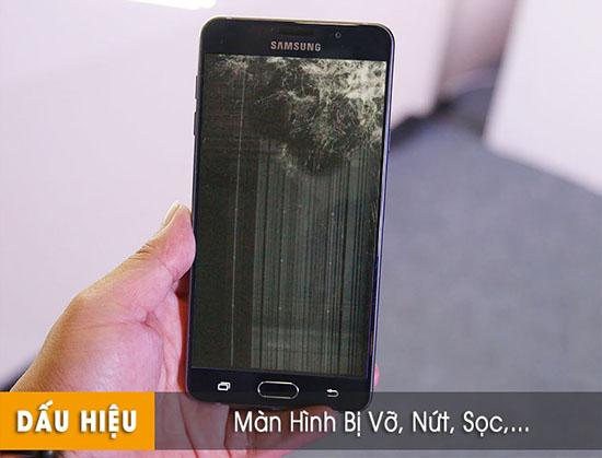 Thay màn hình Samsung bị vỡ, nứt, sọc