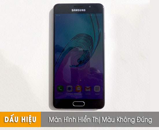 Thay màn hình Samsung lỗi hiển thị sai màu
