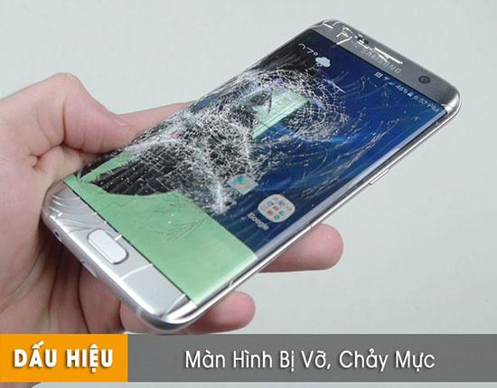 Thay màn hình Samsung s7 bị vỡ, chảy mực