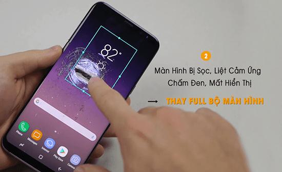 Thay màn hình Samsung s8 bị sọc, liệt cảm ứng