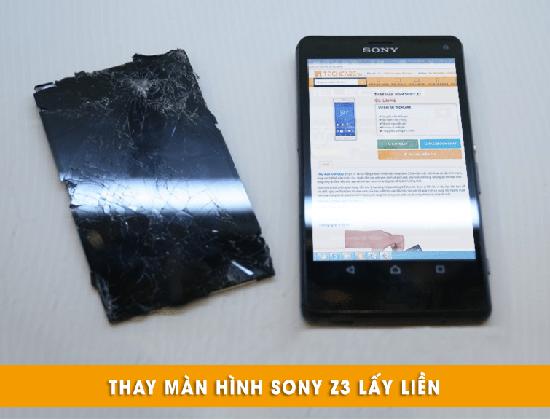 Thay màn hình Sony Z3 lấy liền