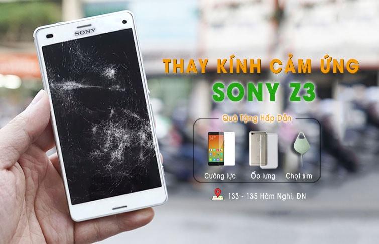thay mặt kính cảm ứng sony z3