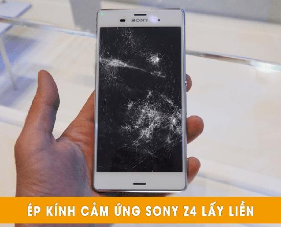 Thay mặt kính Sony Z4 lấy liền