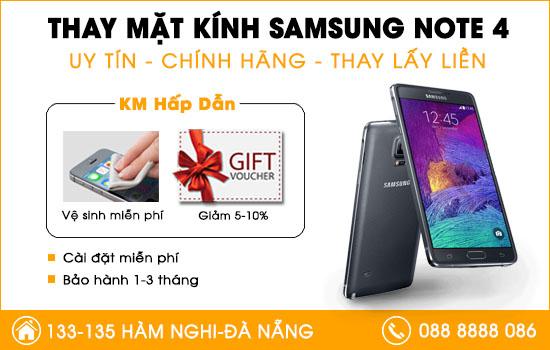 Thay mặt kính Samsung Note 4 Đà Nẵng
