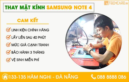 Thay mặt kính Samsung Note 4 uy tín, chính hãng Đà Nẵng