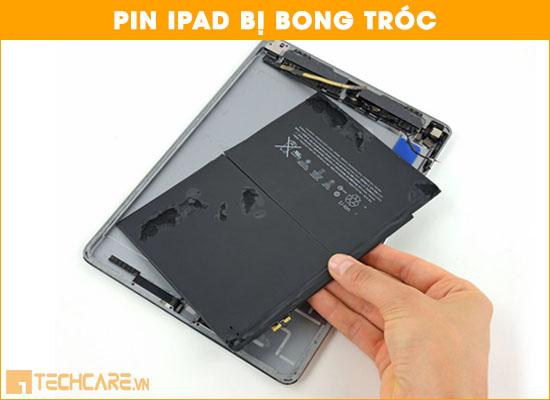 Thay pin Ipad bị bong tróc