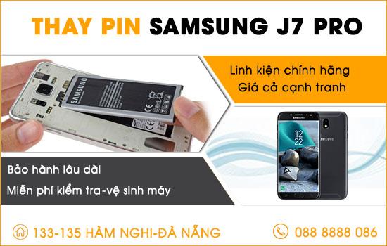Thay pin Samsung J7 pro tại Đà Nẵng