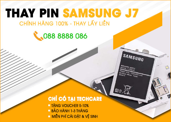 Thay pin Samsung J7 tại Đà Nẵng