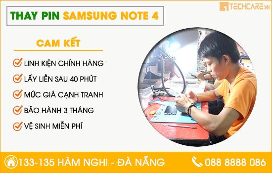 Thay pin Samsung note 4 chính hãng