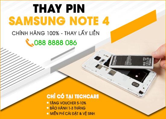 Thay pin Samsung note 4 Đà Nẵng