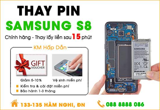 Thay pin Samsung S8 Đà Nẵng