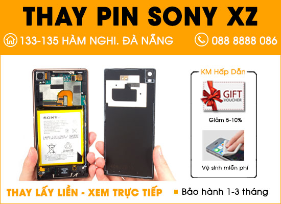 Thay pin Sony XZ Đà Nẵng