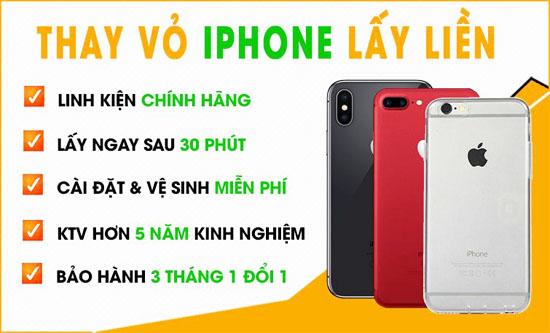 Thay vỏ Iphone chính hãng Đà Nẵng