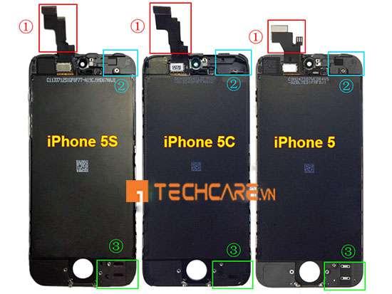 màn hình iphone 5 và 5s có giống nhau không