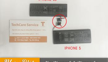 So sánh pin iphone 5 và 5s, có giống nhau không?