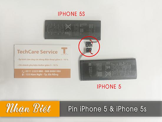 So sánh pin iphone 5 và 5s có giống nhau không